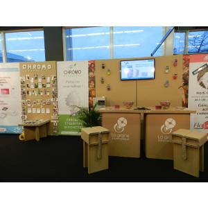 Stand avec petit mobilier en carton - My Nature Box