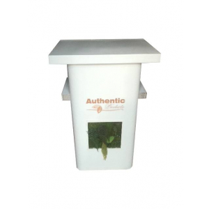 Comptoir végétal avec pose d'un adhésif