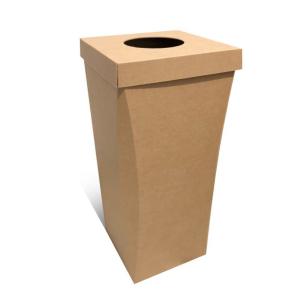 poubelle carton jetable