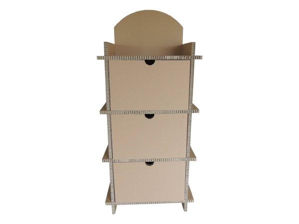 Etagere carton 3 tiroirs