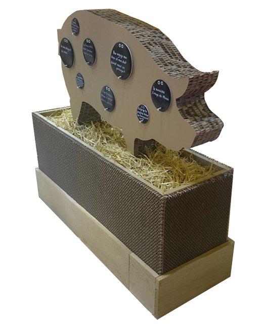 Cochon en carton