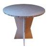 Table haute en carton recyclé