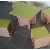 Tables et tabourets en carton pour enfants