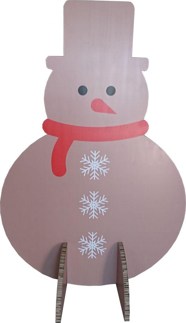 Bonhomme de neige en carton