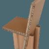 Chaise haute en carton recyclé.