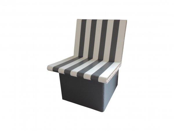 Fauteuil en carton peint en banc et gris - My Nature Box