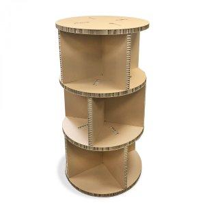 Présentoir colonne en carton recyclé