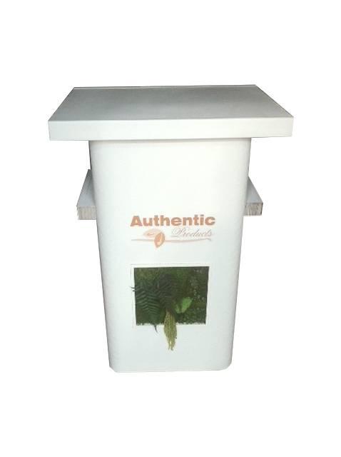 Comptoir avec tableau végétal stabilisé