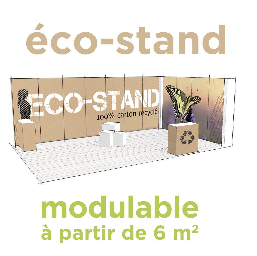 Stand en carton recyclé