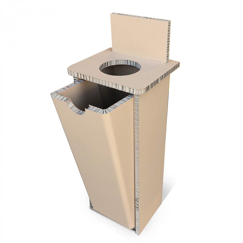 Poubelle et collecteur en carton